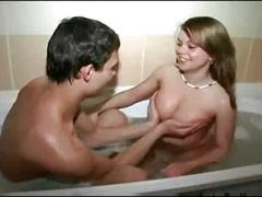 Step brother and  take a bath