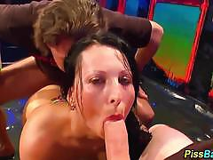 666 bukkake piss drenched amateur loves cock