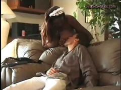 Interracial maid fucking her boss