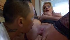 Taylor wane - busty milf fucks in the kitchen