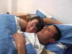 Stefanie waked him up for fucking
