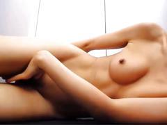 Skinny asian masturbates and squirts