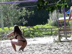 Sexy bikini girls beach voyeur hd video 01