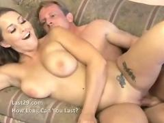 Hot creampie for blonde