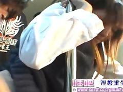 Japan beautiful women on shinkansen