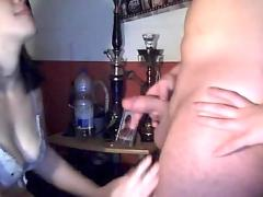 Fucking my slut girlfriend and cumming in her mouth
