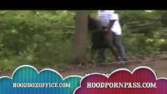 Black felons fuc outside in park instead of picking up trash