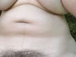 Natural hairy, big tits, solo