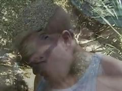Sexy blonde milf tj hart camping threesome
