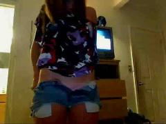 Teen stripping on webcam