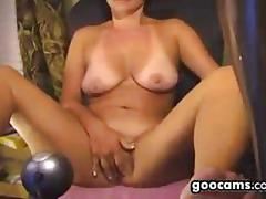 Horny woman masturbating
