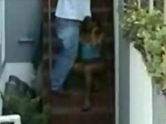 Students caught by hidden cam by neighbour