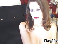Pretty woman masturbating