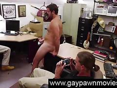 Gays watch amateur masturbating on camera for cash
