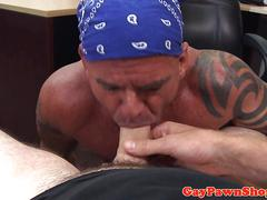 Real biker bumfucked by pawnbroker