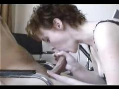 Short-haired hottie loves to savor her boyfriends tasty cock