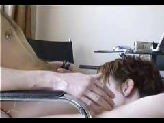 Short-haired hottie loves to savor her boyfriends tasty cock
