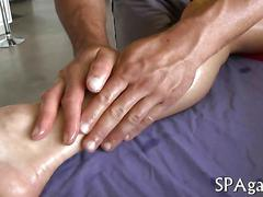 Buffed masseur gets his ass nailed by a straight sexy client