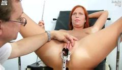 Redhead claudia gyno pussy speculum gaping