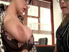 big boobs, lesbians, stockings