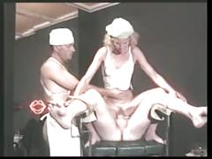 Horny sex on gyn-chair