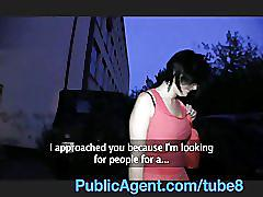 Publicagent angel not so angelic when she's riding my big cock