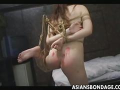 Hot japanese babe tied and tortured