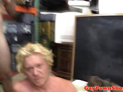 Hunky gaybait cocksucked for cash until cum