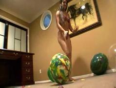 emma, balloons, fetish, tits