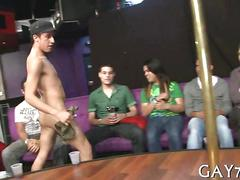 Stripper has a hot time at the party getting blown
