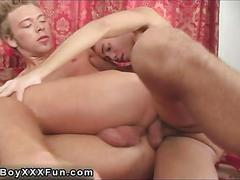 Amateur twink gets his hot ass smashed spoon style