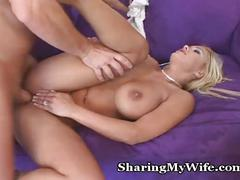 Tasty wife shared with friend