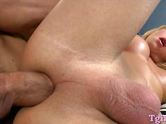 Hot big boobs blonde tranny aubrey kate and a guy fucking
