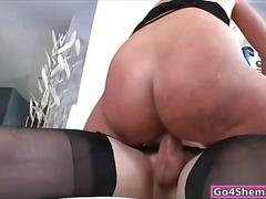 Sexy shemale aly sinclair fucked sultry blonde female