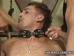 Rayna leah and isadora venturini - three way tranny sex