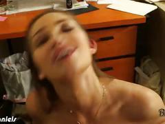 Brunette dani daniels riding cock