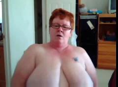 Big tit bbw mature on cam
