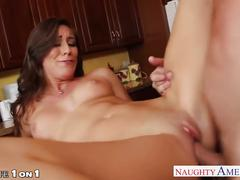 Hot housewife rilynn rae take cock in kitchen