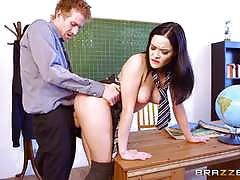 Brazzers network big dick teaching for sexy st...