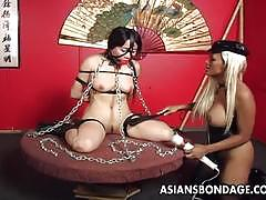 Asians bondage bound asian enjoys bdsm