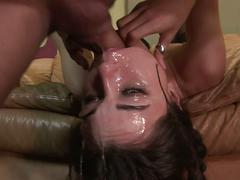 Sasha grey gets a cock in her face