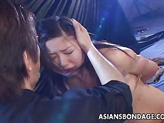 Asian slut swallows piss