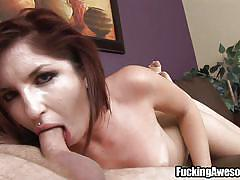 small tits, milf, deepthroat, blowjob, gagging, couch, brown haired, gagalicious, fucking awesome, lexi brooks