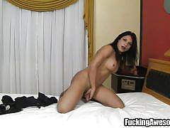 milf, big tits, high heels, solo, jerking, dildo, big butt, anal insertion, black hair, brunette shemale, solo trannies, fucking awesome, jessica ninfetinha