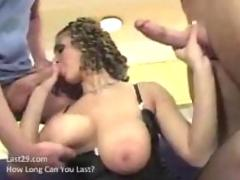 brunette, group, big tits