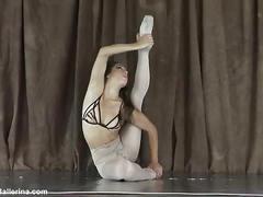 Sweet ballerina nylon tease