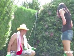 german, hd videos, hardcore, old young, teens, garden, german fuck, in the garden