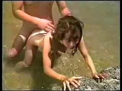 Sweet japani teen fucks in lake - jp spl