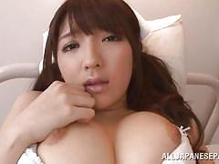 Horny jp nurse doing cock-cleaning service