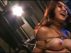 Flogging & strangling a japanese milf